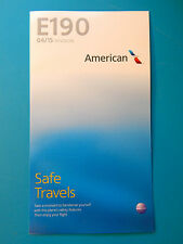 AMERICAN AIRLINES SAFETY CARD--E190
