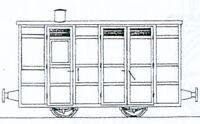 Victorian Passenger Guards Van (OO9 kit) - Dundas DM74 - F1