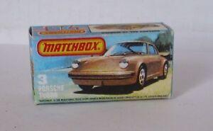Repro Box Matchbox Superfast Nr. 03 Porsche Turbo