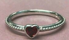 PANDORA | ONE LOVE SYNTHETIC RUBY HEART RING *NEW* 190896SGR RETIRED RARE 58 60