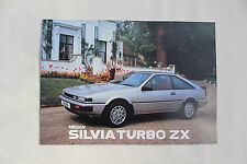 Nissan Silvia Turbo ZX 1986 sales brochure