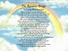 """The Rainbow Bridge"" Memorial Poem Personalized Gift For Loss of Beloved Pet"