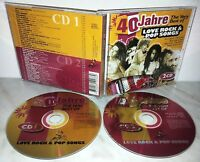 2 CD 40 JAHRE - LOVE ROCK & POP SONGS - CLAPTON - DYLAN - COLINS - TURNER - GAYE