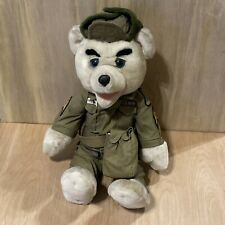 "17"" Elvis Presley White Teddy Bear Collection : Us Army Spearhead Sergeant Patch"