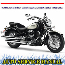 YAMAHA V-STAR XVS1100A CLASSIC BIKE 1999-2007 WORKSHOP SERVICE MANUAL ~ DVD