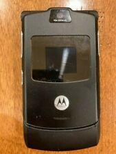 Vintage Motorola Razr V3 Black (At&T) Cellular Phone Collector Untested