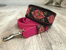 martingale dog collar & lead lined with leather Italian greyhound whippet 1.6''