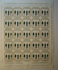 1974 ITALIA  90 lire 2° Centenario della Guardia di Finanza foglio intero MNH**