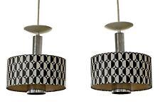 Mid Century Modern Pair of Rare Italian Lightolier Pendant Light Fixtures 1960s