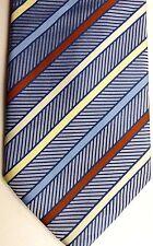 """Vesuvio Napoli Men's Silk Tie 60"""" X 4"""" Multi-Color British Stripes"""