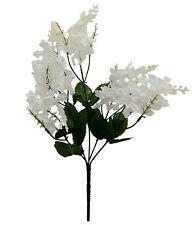 5 Lilac Blooms ~ White ~ Silk Wedding Flowers Bouquet Centerpieces Decorations