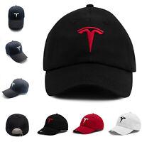 Motor Embroidered Tesla Adjustable Cap Unisex Baseball Strapback Flexfit Sun Hat