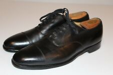 Cole Haan by EDWARD GREEN Made in England Black Leather Cap Toe 12D 88 Last NICE