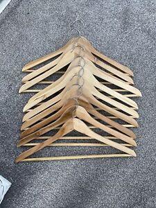 Wooden Clothes Hangers x 10