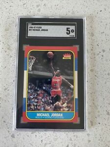 "1986 Michael Jordan  Fleer Rookie Card SGC EX 5 ""RARE"" 🔥🔥🏀🏀- Don't Miss Out!"