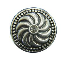 Noosa Style Chunks Ginger Snap On Jewellery Button Charms Crystal Swirls 20mm