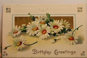 Greetings Birthday Postcard Old Vintage Card View Standard Souvenir Postal Post