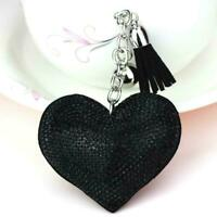 Pendant Keychain Bag Keyring Key Chain Charm Heart Rhinestone Crystal Handb T8G1