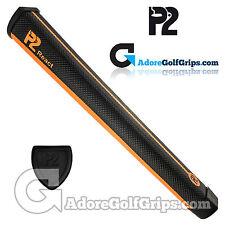 P2 React Jumbo Putter Grip - Black / Orange + Free Tape
