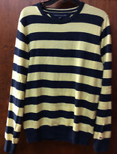 $69.99 Tommy Hilfiger Men's  Cotton  Striped  Crew Neck Sweater M