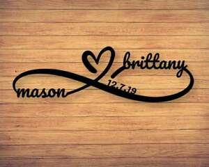 Custom Infinity Metal Sign Infinity Name Sign Personalized Infinity Sign