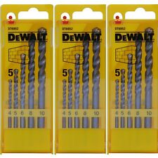 DEWALT DT6952 MASONARY DRILL BIT SET 4-10MM IN CASE **PACK OF 3**