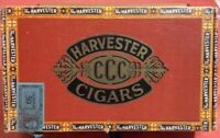 Vintage Harvester CCC Cigar Box, empty, Look What 10cents Will Buy