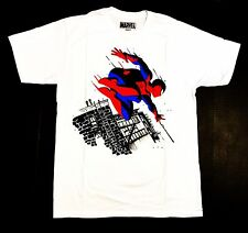 Licensed Marvel Spiderman - Men's 2X-Large White T-Shirt Graphic Tee  2XL