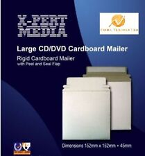 100 x Large CD DVD Rigid Card board Mailer /Wallet with Peel & Seal Flap 350 GSM