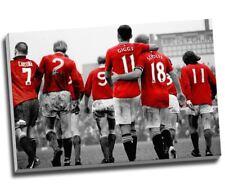 """Manchester United Legends Football Canvas Print Wall Art 30x20"""" A1"""
