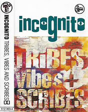 Incognito Tribes Vibes + Scribes CASSETTE ALBUM Electronic Acid-Jazz