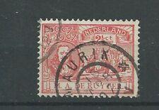 "Nederland 89 met ""MAURIK 1907"" grootrond  VFU/gebr  CV  10+ €"