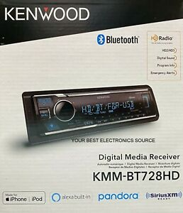 NEW Kenwood KMM-BT728HD Digital Media Receiver, Bluetooth, Alexa, HD Radio