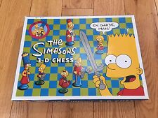 Vtg THE SIMPSONS 3-D CHESS SET GAME 1991 Bart Complete Box