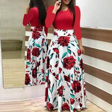 Boho Womens Floral Maxi Dress Summer Beach Cocktail Evening Party Long Sundress