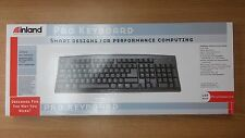 inland Pro PS-2 Compatible Keyboard Spill Resistant (Black) Brand New