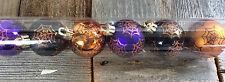 Michaels Halloween Decor - Orange Black Purple Spider Webs Ornaments SM 6pc.