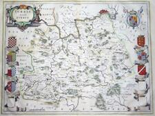 c1648 - Original Large Antique Map of SURREY by Blaeu - STUNNING MAP