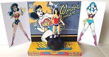 WONDER WOMAN Superhero DC Comic ACTION FIGURE on Custom Display DIORAMA [a]