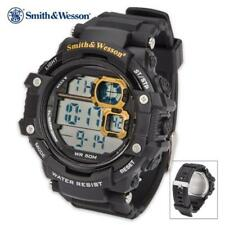 Smith & Wesson Black Digital Shock Tactical Military 50 ft. Water-Proof Watch