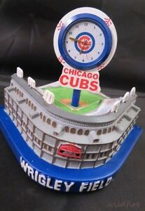 CHICAGO CUBS WRIGLEY FIELD BASEBALL PARK STADIUM CLOCK Forever Collectibles MLB