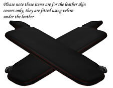 RED STITCH FITS VW GOLF MK1 JETTA 74-93 2X SUN VISORS LEATHER COVERS ONLY