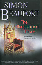 The Bloodstained Throne by Simon Beaufort-Severn House-Geoffrey Mappestone