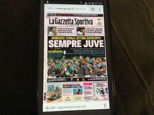 2 Gazzette dello sport juventus supercoppa italiana 2012-2015