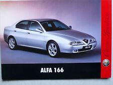 Prospekt Alfa Romeo 166 zur Premiere, 6.1998, 4 Seiten ohne Text