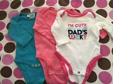 0-3 Months Girls Clothing Lot. Pre-owned Long/Short Sleeve Onesies