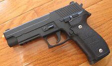 Zinc Alloy Full Metal Airsof Spring Pistol SIG P226 Style Shoot up to 300 FPS
