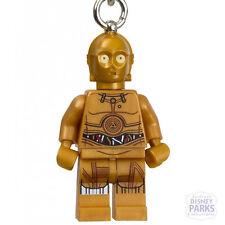 Disney Parks LEGO Star Wars C-3PO Minifigure Keychain 853471