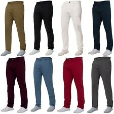 Enzo Mens Chino Trousers Slim Fit Stretch Cotton Jeans Pants All Waist Sizes