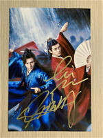 Signed Photo Word of Honor Gong Jun Zhang Zhehan Handsigned Autograph 10x15cm山河令